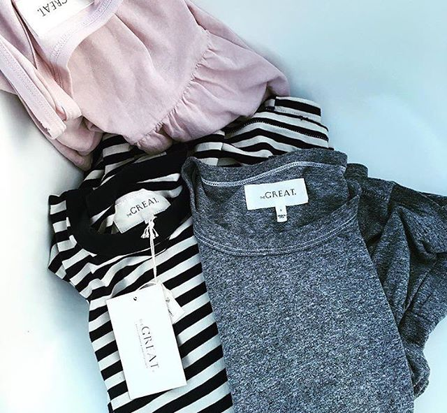 What a pretty little pile. Ruffled basics from The Great #thisisthegreat #rg @davidfannie