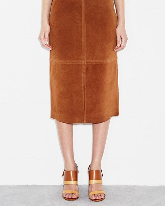 @mihjeans The Drake Skirt #madeinheaven #suede #skirt #newseason #mih