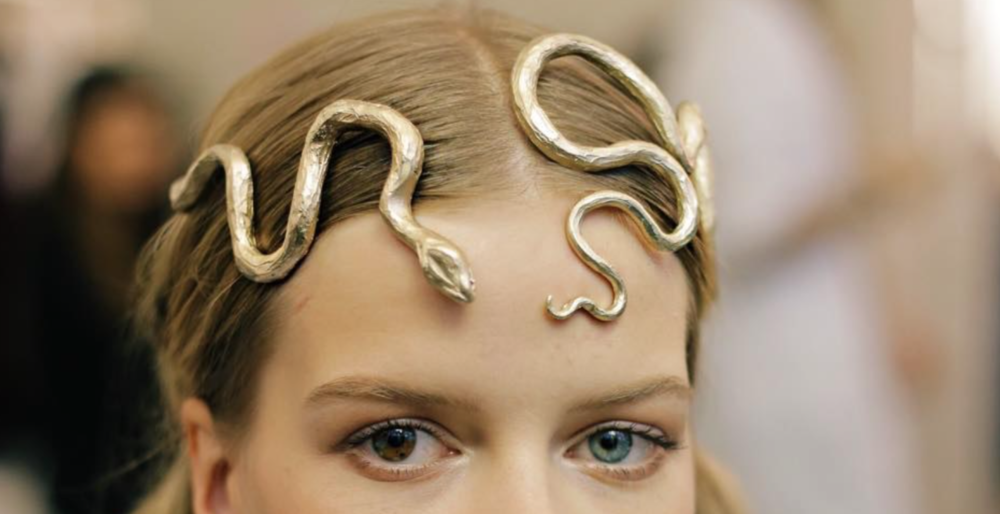 agameofclothes: Snake headpiece for the Sand Snakes, Valentino