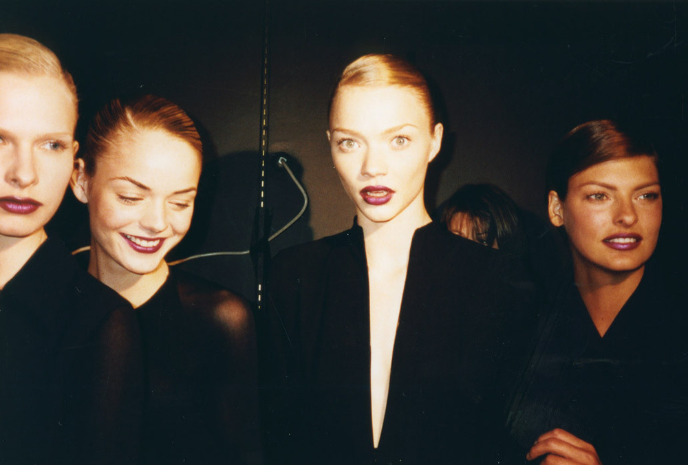 vvvestvvood: Kirsten Owen, Jamie King, Jodie Kidd, and Linda Evangelista photographed by Alan White
