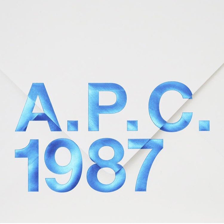 New season A.P.C. online & in store #1987 #2016 #spring #newseason #apc #paris (at GRACE boutique)