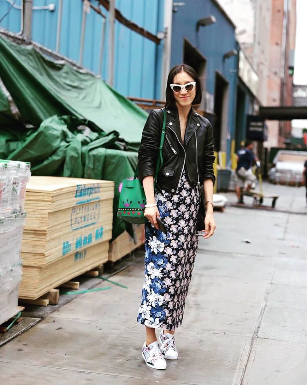 How cool is Eva Chen on the streets on New York! Get that look at 20% off, plus free shipping, when you shop online before 12am tonight! Tap for details & follow the link in our bio to shop now! Code: VOSN20 #VogueOnlineShoppingNight