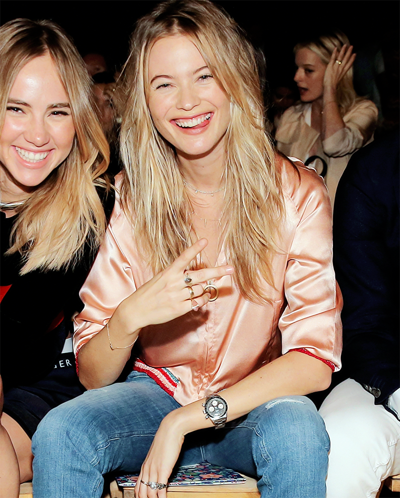 upabove-downbelow: behatiprinsloo: SEPTEMBER 14th - Behati at Tommy Hilfiger Women's Spring 2016 during NYFW (pictures here) ))((