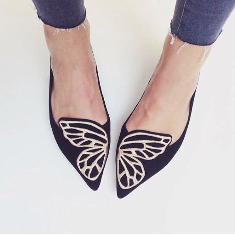 Saturday Shoe Crush: our new season Bibi butterfly flats from @sophiawebster #new #shoe #love (at GRACE boutique)
