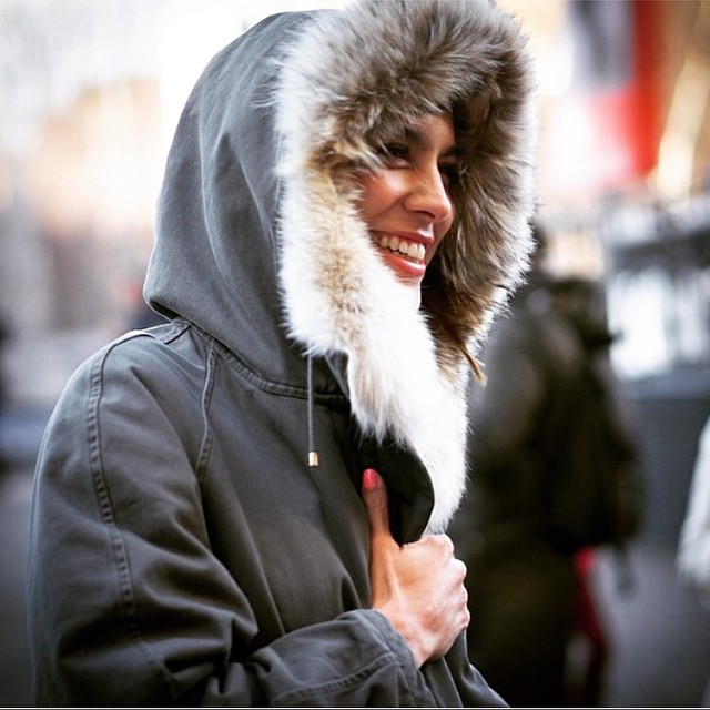 You'll need an Alexa Chung smile and our Army by Yves Salomon fur-lined parka to get through today! #streetstyle #alexachung #armybyyvessalomon (at www.gracemelbourne.com)