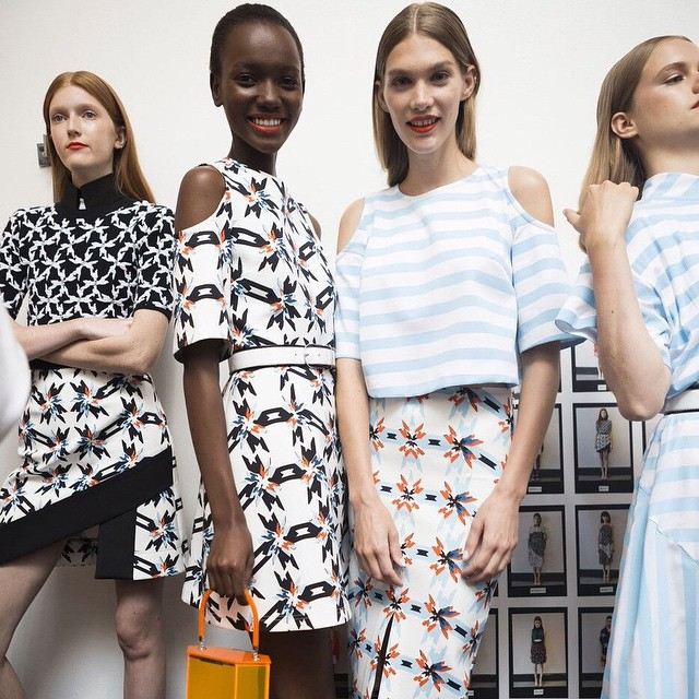 Backstage with gorgeous new label @tanyataylornyc ! Read our interview with Tanya online now #bts #tanyataylor #gracemelbourne