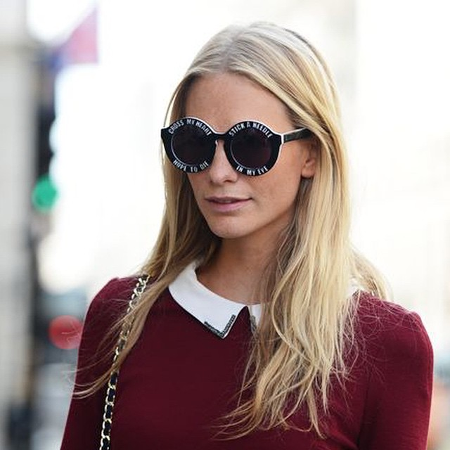 One of our fave gals @poppydelevingne in @house_of_holland's fun and cheeky shades. Get yours at 15% off today and tomorrow only with the code FRIENDS15! #poppydelevingne #houseofholland #sunglasses #itgirl #gracemelbourne (at www.gracemelbourne.com)