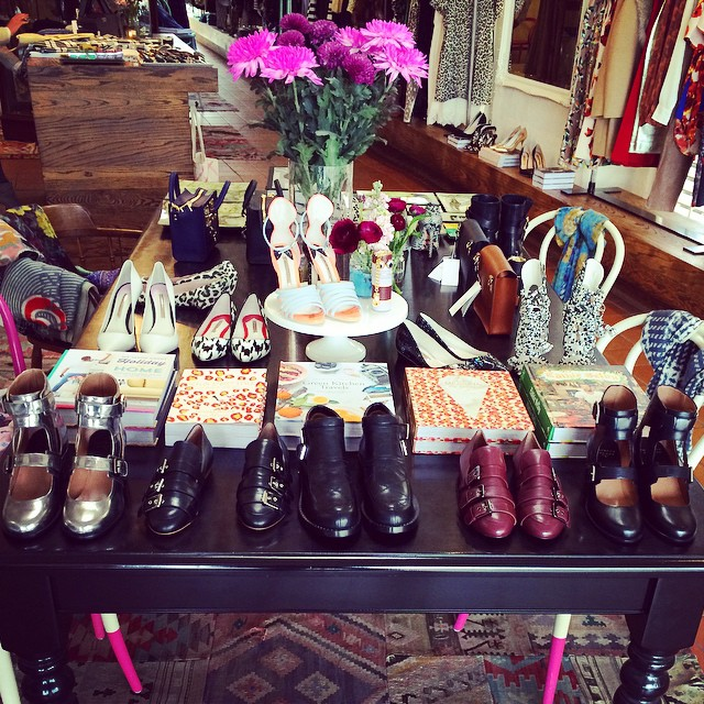 @laurencedacadeparis beauties sitting pretty at the front of our table! What a perfect spring day for a bit of a shop! #laurencedacade #shoes #paris #new #spring (at GRACE boutique)