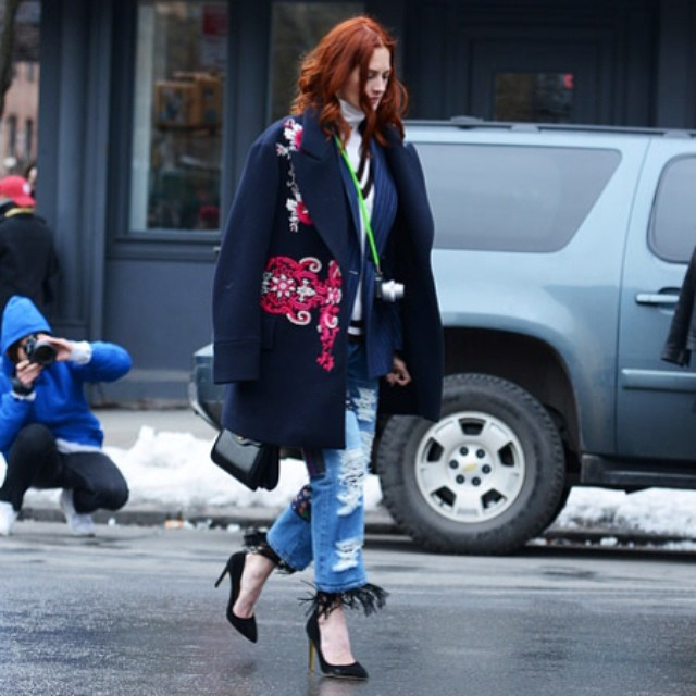 Morning inspiration from the queen of street style - Taylor Tomasi Hill!