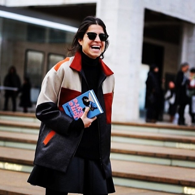 The always amazing Man Repeller in Ostwald Helgason's colour-blocked jacket. Perfection! Online nowwww.gracemelbourne.com