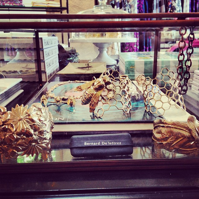 Our beautiful Bernard Delettrez cuffs, rings and necklaces have a pretty new home.