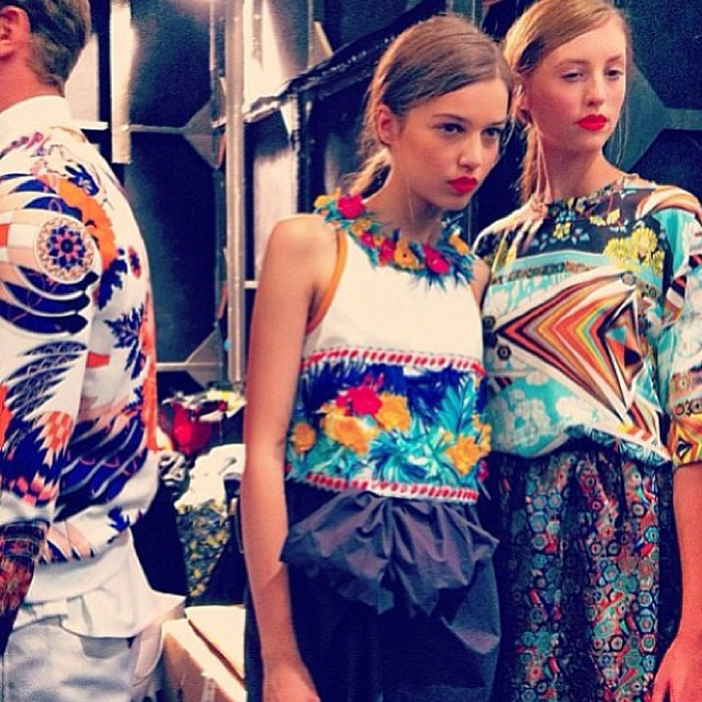 Behind the scenes of the MSGM SS14 runway show!