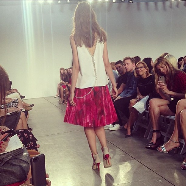 A snap from our buyers at Thakoon's NYFW runway show! Coming soon to GRACE…