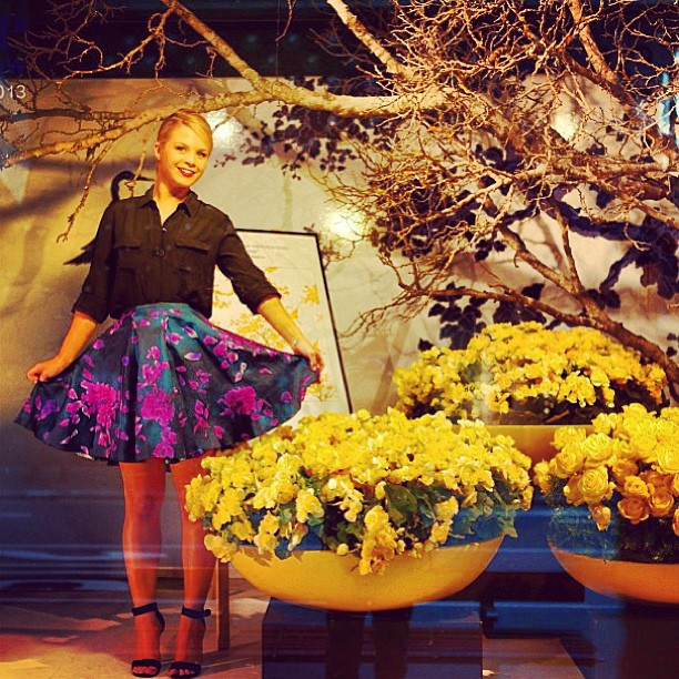 Emma Freedman is way too beautiful on The Today Show in our Calla Hyrule skirt. 🌷🌸 Online and instore now at gracemelbourne.com. Use our Russh mag discount code RUSSH20 for 20% off!