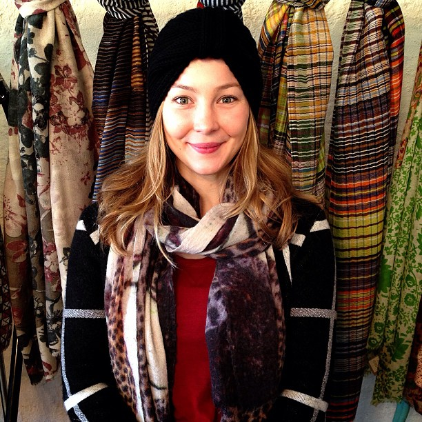 Beautiful Anna is the best model for our new I Love Mr. Mittens urban turban! Online and in-store now ❄⛄