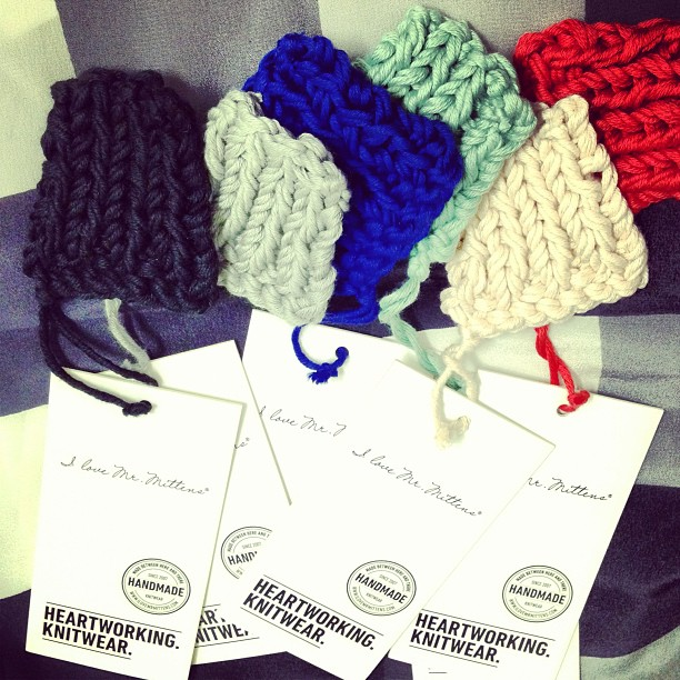 Super cute knitwear swatches - a behind the scenes look at a very special collaboration with I Love Mr Mittens!