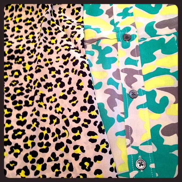 Our forever-favourite print + our new favourite print! Leopard, meet Cammo! We think it's a match made in heaven. We 💚 Equipment shirts!