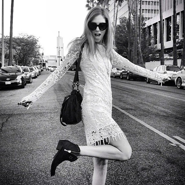 Like us, Chiara Ferragni AKA The Blonde Salad ❤'s MSGM! Make Chiara's beautiful MSGM fringed dress your own… It's instore at Grace now!
