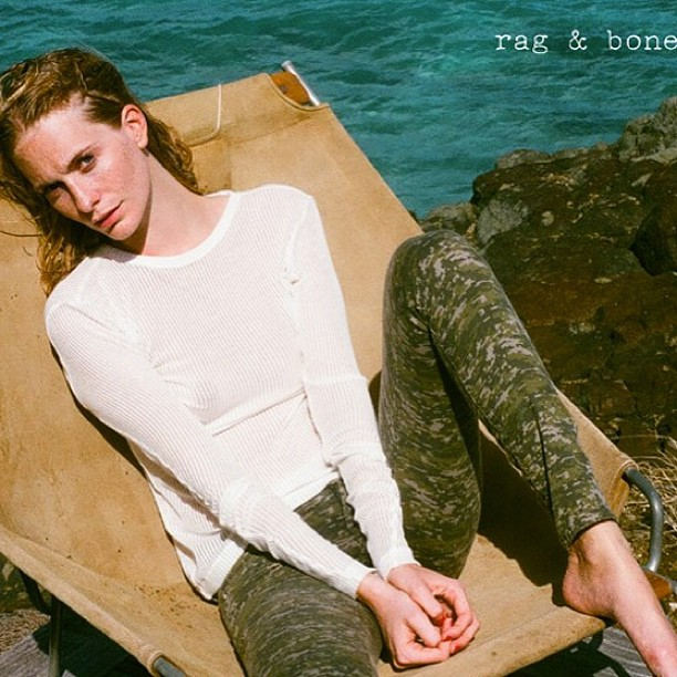 Love this shot of Poppy Delevigne doing Rag & Bone's D.I.Y campaign in our favourite cammo print leggings!