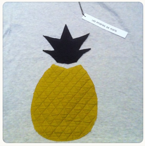 NEW! Deliveries from Paris and Milan just arrived! Pictured: Les Prairies De Paris Pineapple tee!