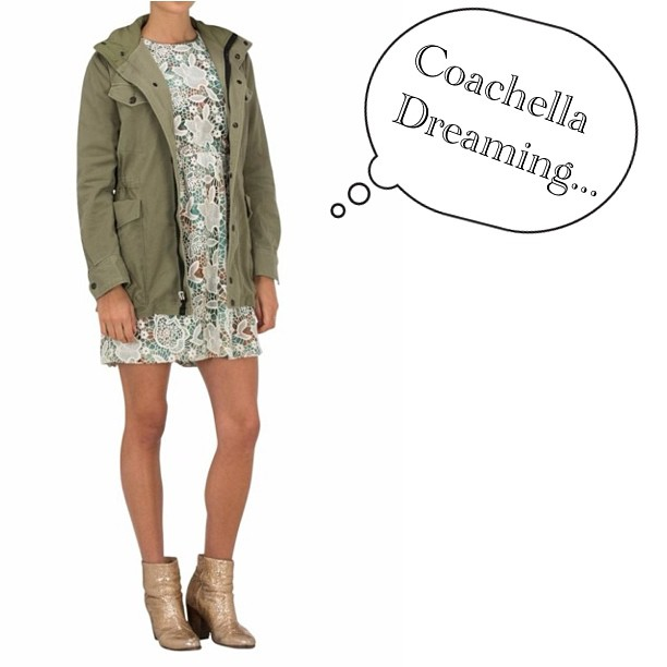 Heading to Coachella? We have two things to say to you… 1. Can we come?? And… 2. This is what we would wear! Anna Sui dress, Rag & Bone Moto jacket and our trusty Rag & Bone Newbury boots!