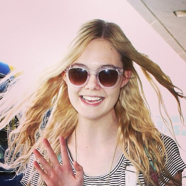 Elle Fanning looking super adorable in her Thierry Lasry 'Sexxxy' shades!
