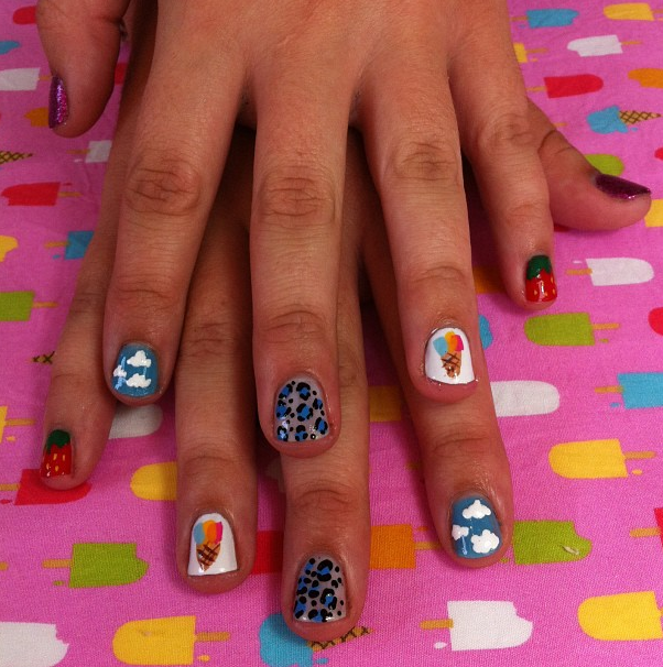 The gorgeous Grace got her nails did at Grace by I Scream!