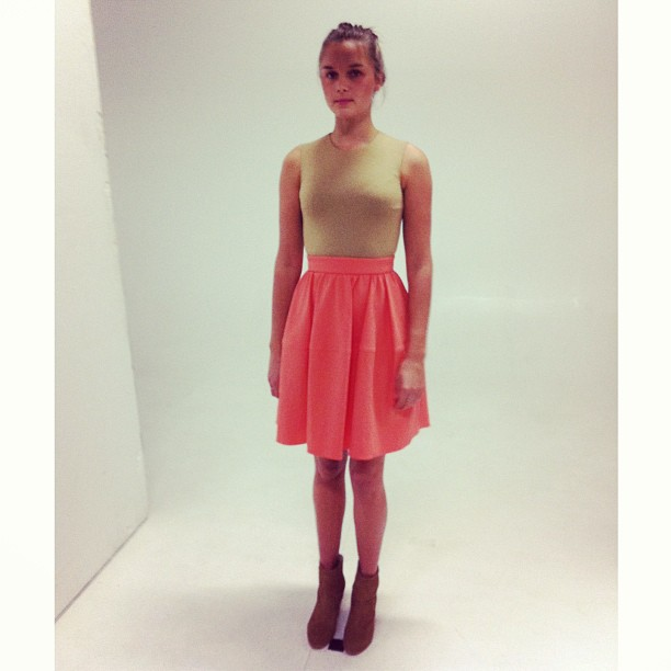 Pretty in colourblock Carven! A sneak peek at our website shoot!