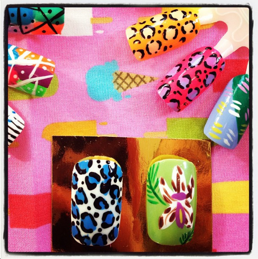 Our special Grace nail designs, created especially for us by I Scream Nails!