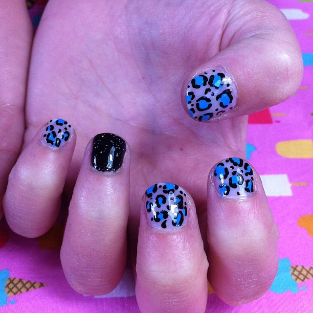 Our signature Grace leopard print, by the amazing ladies at I Scream Nails!