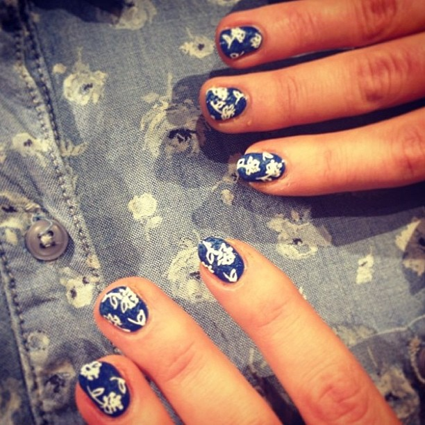 Regram - how cute is this Liberty + AG nail print (not to mention our favourite new shirt in the background!) Ps. We have an exciting nail event coming up soon… Stay tuned!