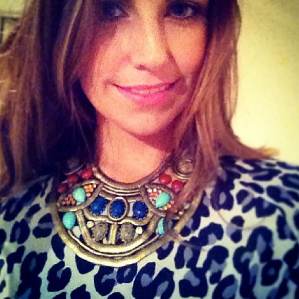 The beautiful Lauren Brain wearing Grace silk tee (in-store next week!) and DanniJo necklace to the opening night of LMFF!