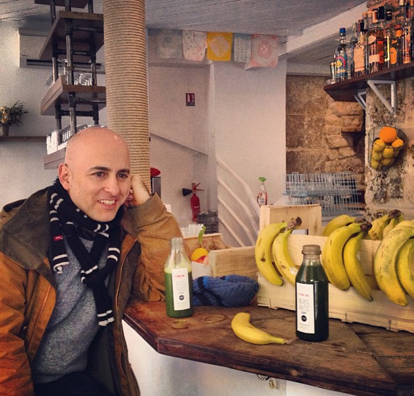 Bumping into Steven Alan in the Bob's Kitchen pop-up in Paris!