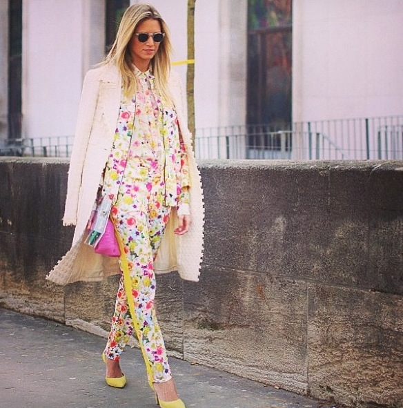 Regram from MSGM - head to toe florals!