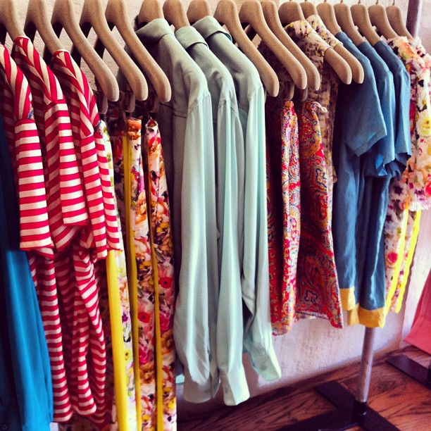 Rack after rack of delicious #new pieces to peruse! #equipment #carven, #msgm #stevenalan and more! #fashion #print (at Grace)