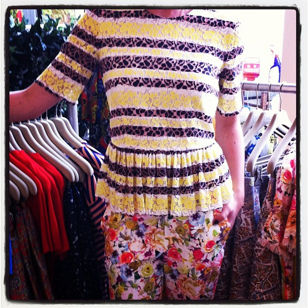 Just one of our new favourite outfit combinations from the ridiculous MSGM resort collection!