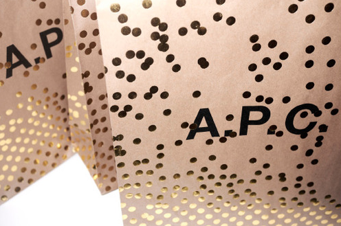apcofficial: A.P.C. gift packaging. Design by Petronio Associates. Photo by Joan Braun.