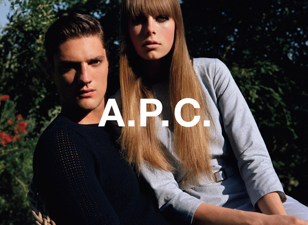 apcofficial: A.P.C. spring 2013 campaign. With Thibault Oberlin & Edie Campbell shot by Alasdair Mclellan.