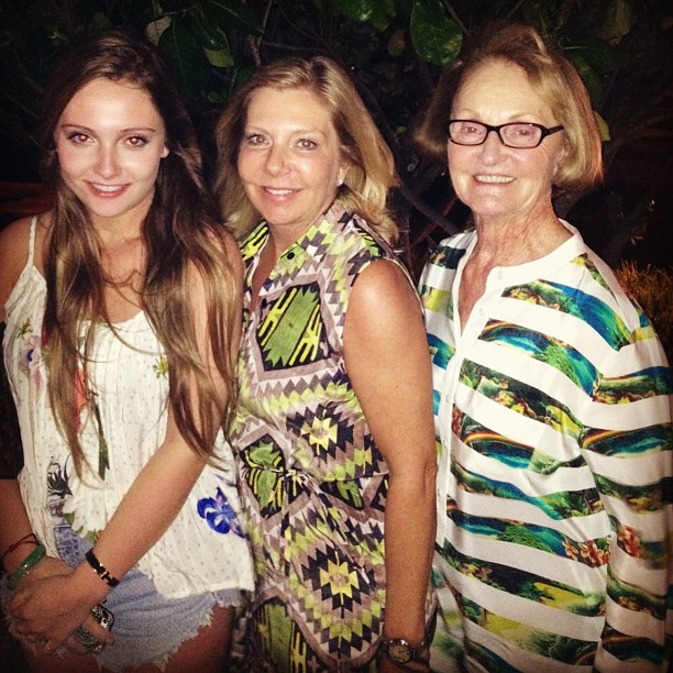 We love this pic! Three generations of gorgeous Grace girls! @sarailana
