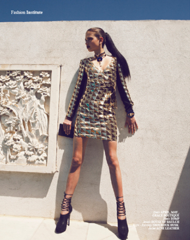 April May's knockout 'Kitty' sequinned dress! Image from Institute Mag, styled by the amazing Sophie Barker