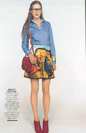The most divine Carven skirt, featured in Madame magazine - Who says clothing isn't art?? Only one of these babies left at GRACE!
