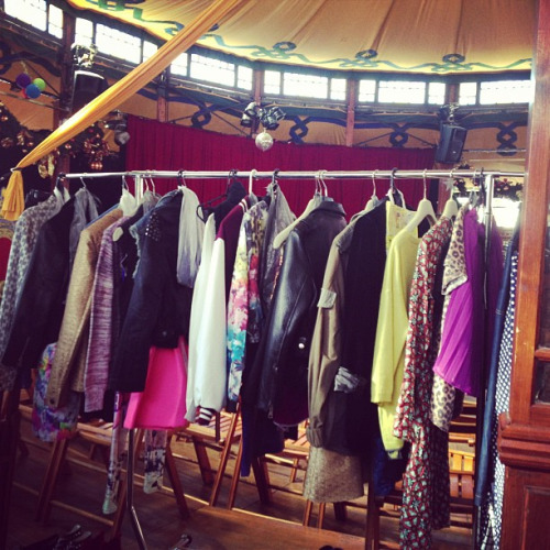 We can spy some Grace in amongst the pieces on this rack!  style-creep: Shooting the I Love Billy Footwear AW13 campaign at the Wonderland Fun Park in Docklands! Yeww #shoes #ilovebilly #fashion