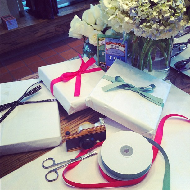Our gift wrapping station is in full swing! We absolutely love a beautifully wrapped present!! (at Grace)