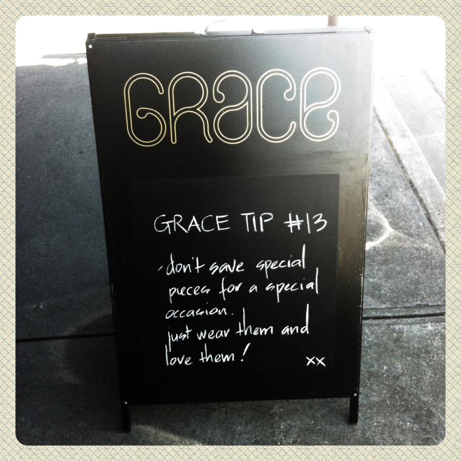 The GRACE tip of the week! P.S. Follow us on Facebook and Twitter for more GRACE love!