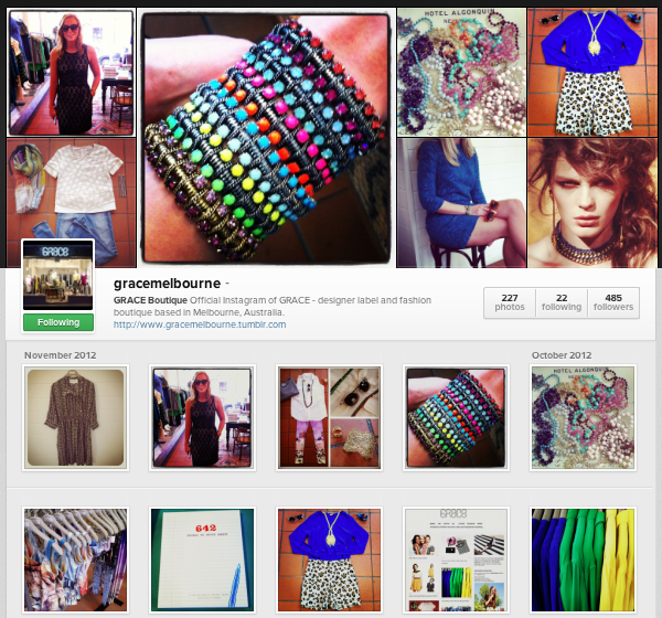 Loving our new Instagram web page! Check it out here:    www.instagram.com/gracemelbourne