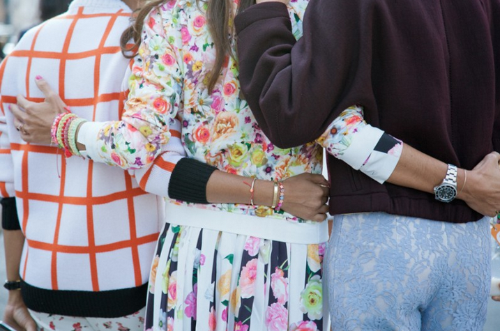 Print-astic street style featuring MSGM!