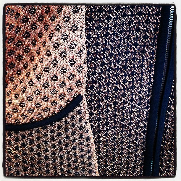 It's all in the details… Rag& Bone's amazing coppery 'Amanda' jacket!