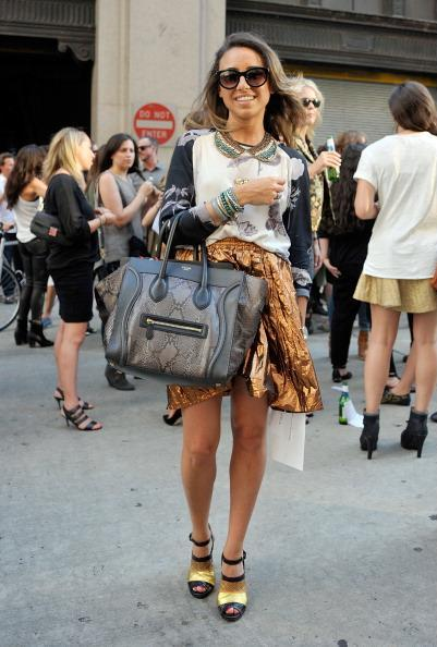 New York flash-back - Georgia getting street-style snapped outside the Rag & Bone show!