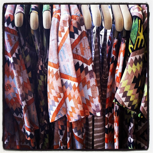 New deliveries from the gorgeous Secret South collection! Can't get enough of this Aztec print! (Taken with Instagram at Grace)