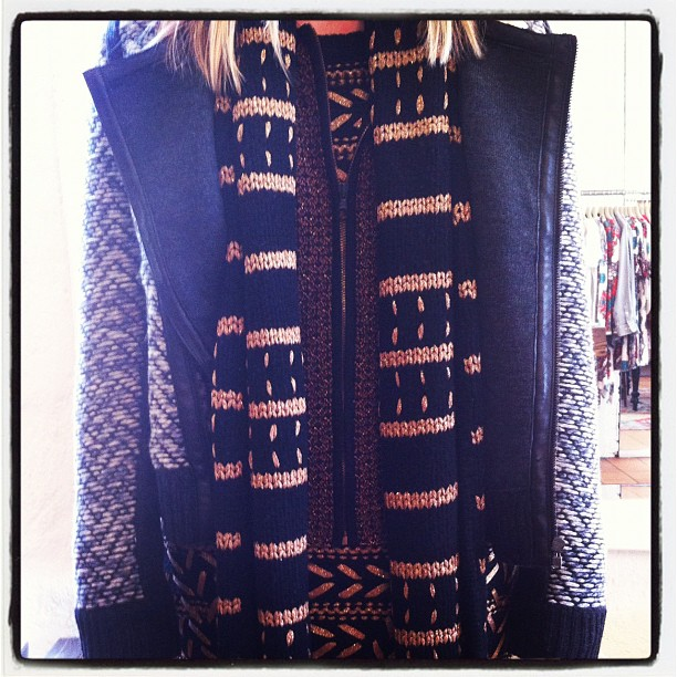 New rag & bone knits, jackets and scarves have just arrived! Warning: we do not advise wearing them all at the same time on such a nice sunny day (one piece however, is perfect!)  (Taken with Instagram at Grace)